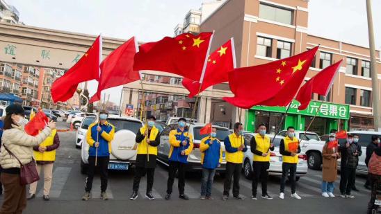 齐齐哈尔馨立方赵总迎接援鄂白衣英雄归来